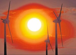 Windkraftanlagen-Foto
